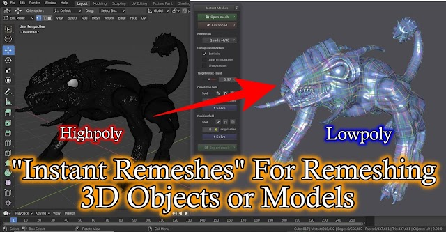 For 3D Sculpted Highpoly Model To Lowpoly Model Creation By Instant Meshes