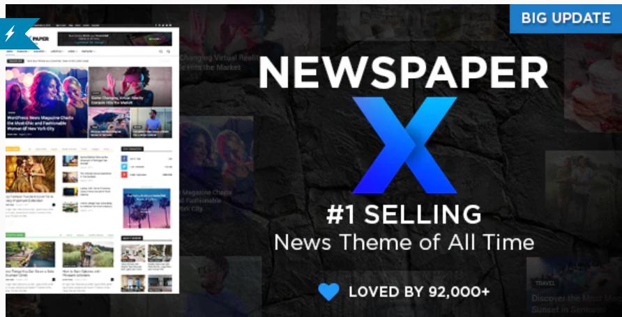 Download Free Newspaper X v10.3.2 – WordPress News Magazine Theme | Latest Version