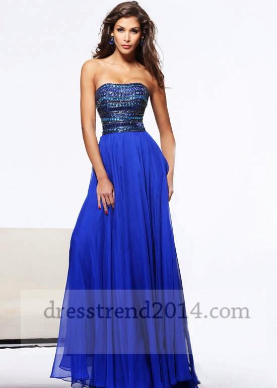 Beautiful nice blue formal prom dresses: Beautiful nice ...