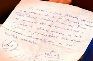 What was written in Leo Messi's first contract
