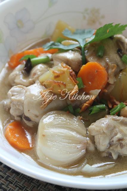Stew Ayam Cara Tengku Puan Pahang
