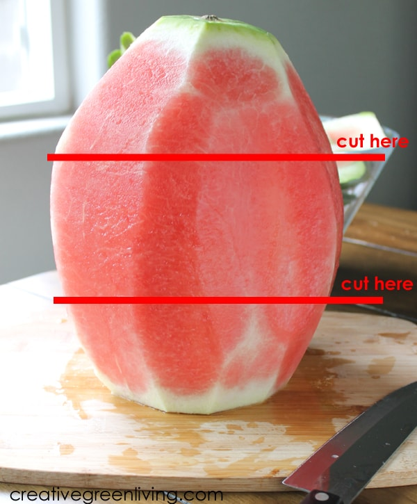 Watermelon cake recipe - how to carve a watermelon into a cake