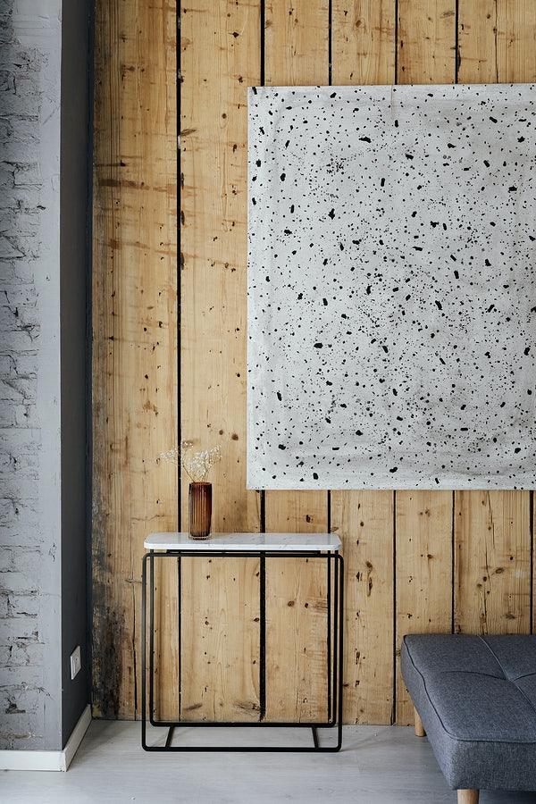 drewniana ściana w sypialni