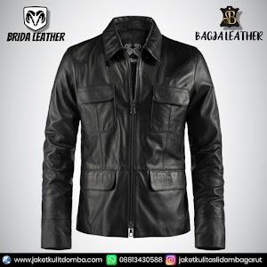 Jual Jaket Kulit Asli Garut Pria Domba Original Brida Leather B06   WA 08813430588