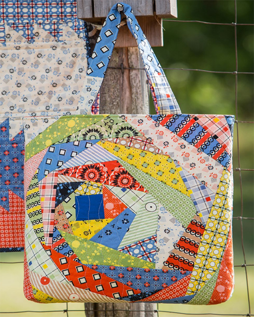 Happy Improv Tote Free Quilting Pattern