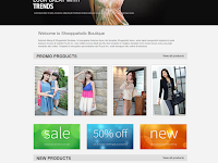 Shopaholic Boutique Responsive e-shopping Blogger Template
