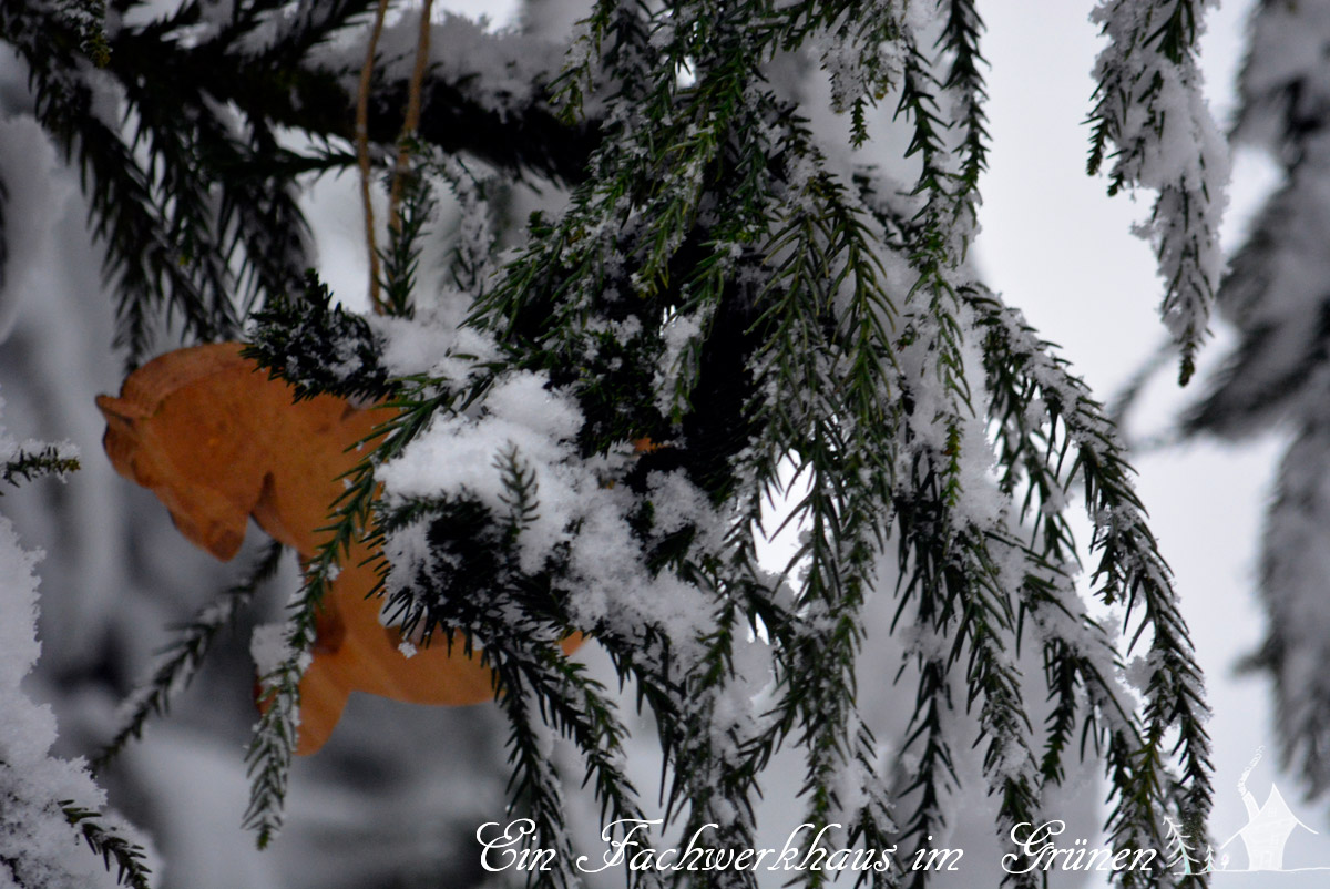 Weihnachtsschmuck, Garten, Schnee