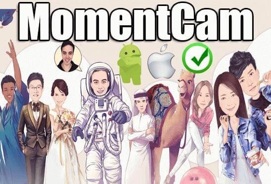تحميل تطبيق MomentCam Cartoons & Stickers عملاق تحويل الصور الشخصية إلى صور كرتونية