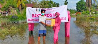 Bhayangkari Polres Luwu Utara Peduli, Terhadap Korban Banjir