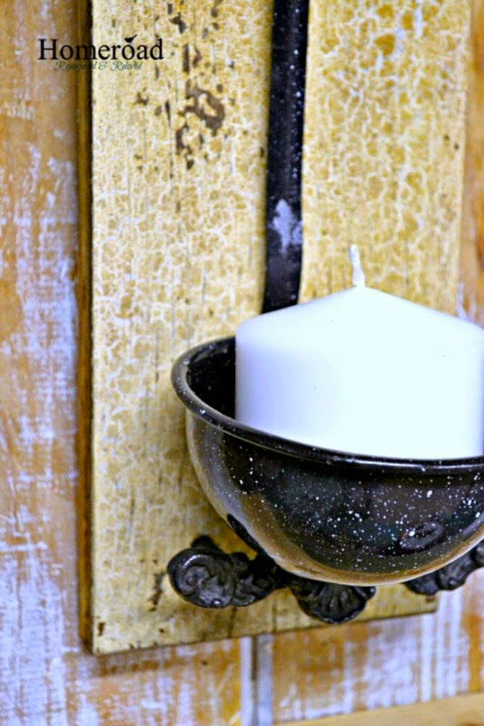 Enamelware Ladle Candle Holder