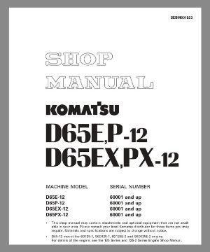 Shop Manua d65e-12 d65p-12 d65ex-12 d65px-12