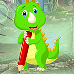 Games4King Writing Green Dinosaur Escape