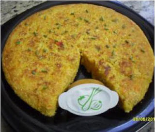 Tortilla vegetal sin huevos thermomix