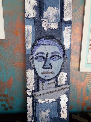 Eyes on you, Denim Art by Miabo Enyadike