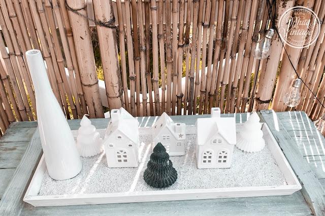 Weihnachtsdorf auf Dekotablett