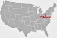 Ubicación de Pittsburgh en EE.UU.