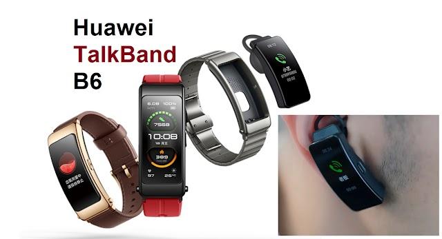 ساعة ذكية يمكن تحويلها الى سماعة أذن بلوتوث Huawei TalkBand B6