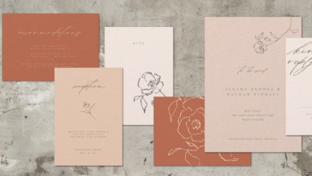 2019 20120 trend wedding invitations