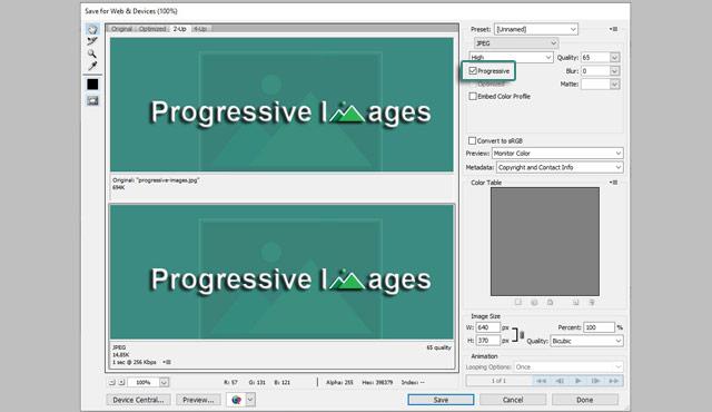 Cara Membuat Progressive Images