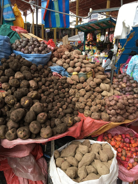 potatoes at Chivay market, Peru