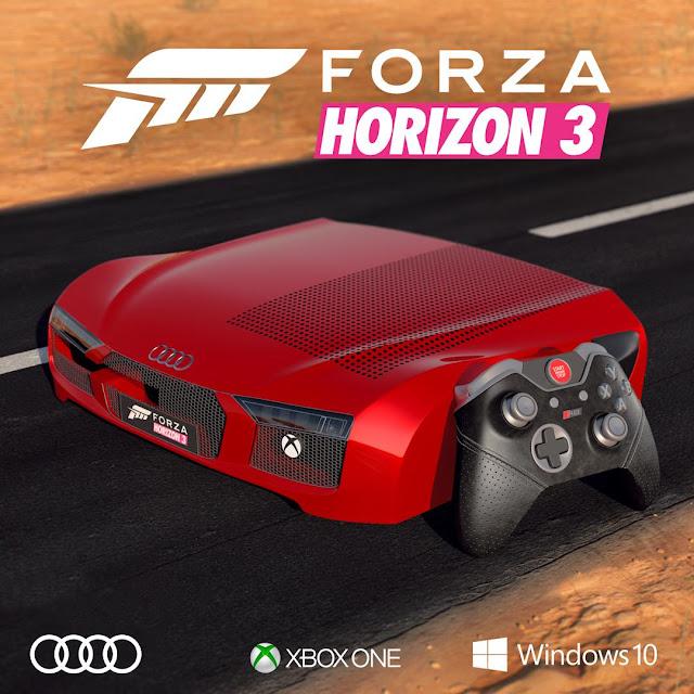 Os presentamos esta Xbox One S con forma de Audi R8
