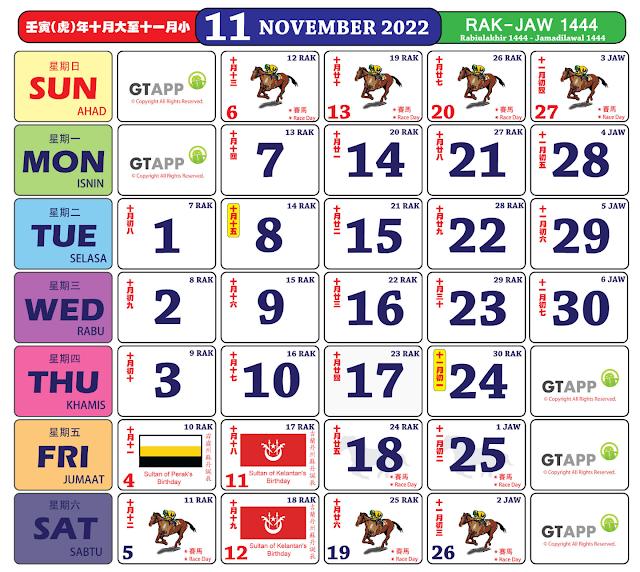 Kalender November 2022