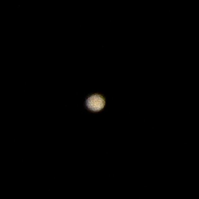 Jupiter with 600mm DSLR Telephoto, 1/250 second exposure (Source: Palmia Observatory)
