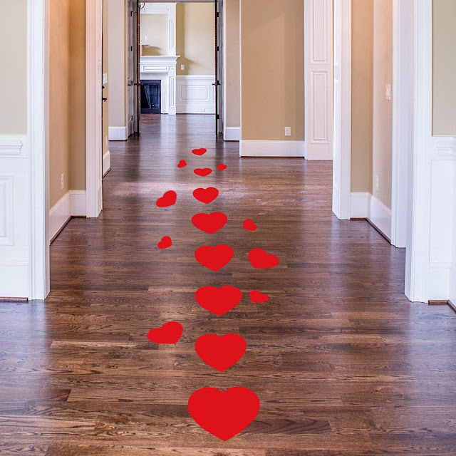 Heart Floor Decals Stickers for Valentine's Day