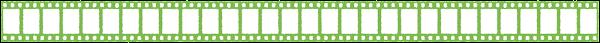 映画のフィルムのライン素材(緑)