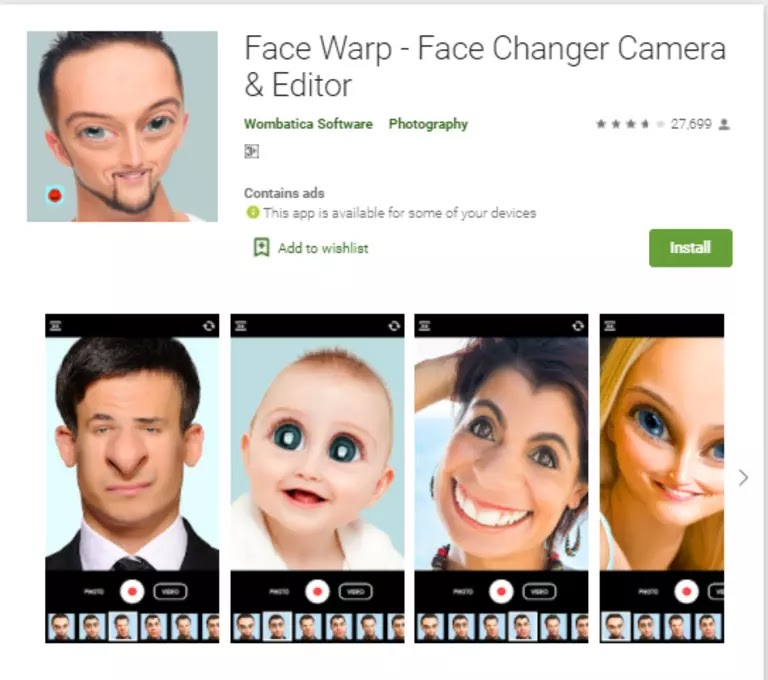 Face Warp - Face Changer Camera and Editor