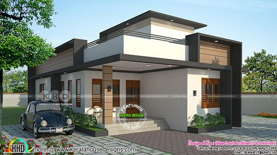 Front elevation of 2 bedroom single floor house