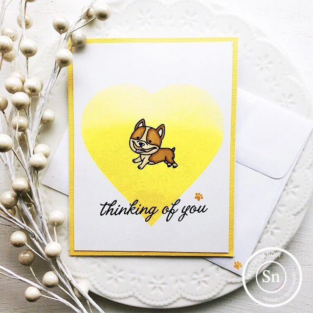 Sunny Studio Stamps: Devoted Doggies Customer Card by Ashley Hughes