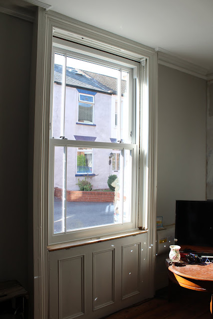 uPVC Sash window in living room
