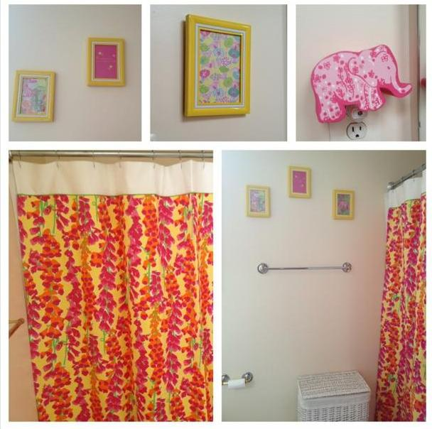 maryland pink and green lilly pulitzer tween decor