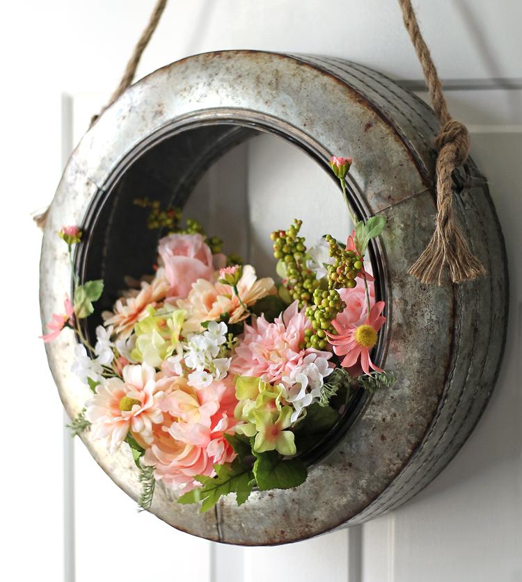 Hobby Lobby Metal Tire Wreath