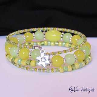 diy jewelry bracelet bead pattern ideas yellow green spring bracelets