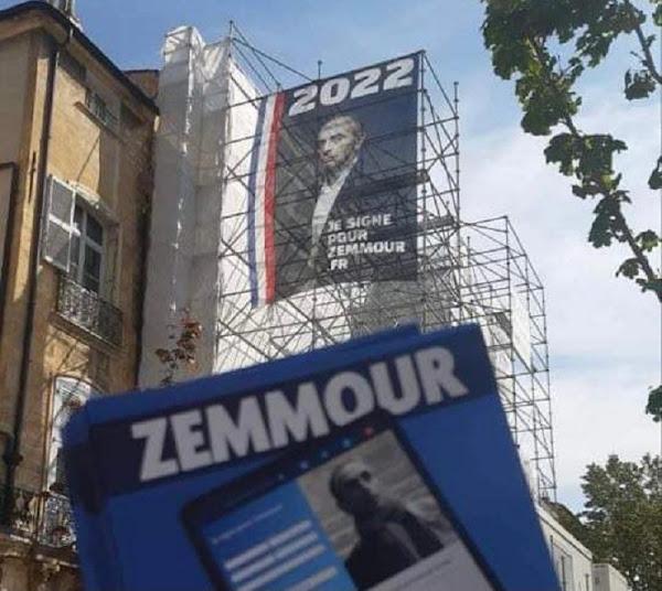 Zemmour 2022 : une immense affiche fait son apparition dans les rues d'Aix-en-Provence