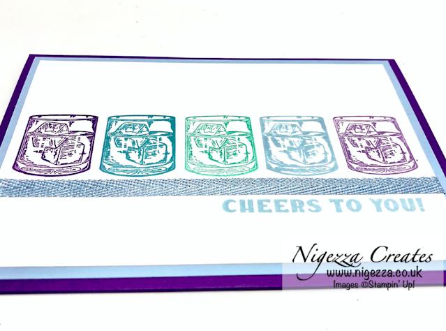 Cheers Card Using The Stamparatus Hinge Step