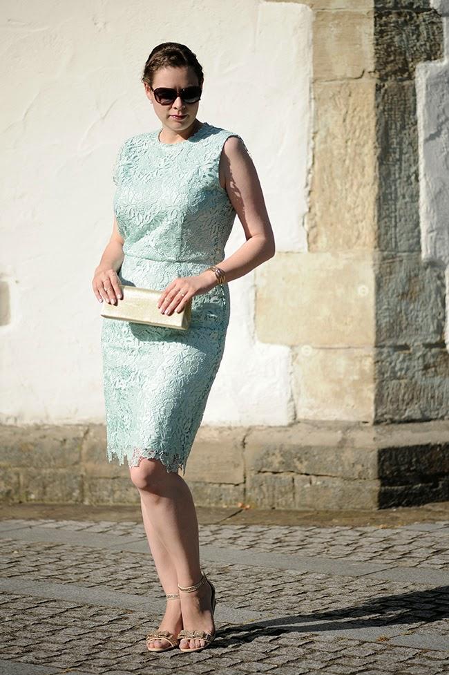 Sea of Teal: Hochzeitsgast .:. Mintfarbenes Spitzenkleid