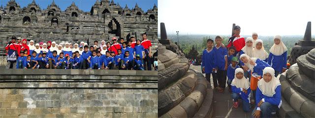 Candi Brobodudur yang kaya stupa