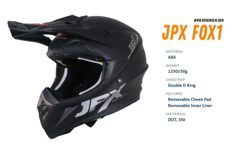 JPX Fox 1 Hitam Solid