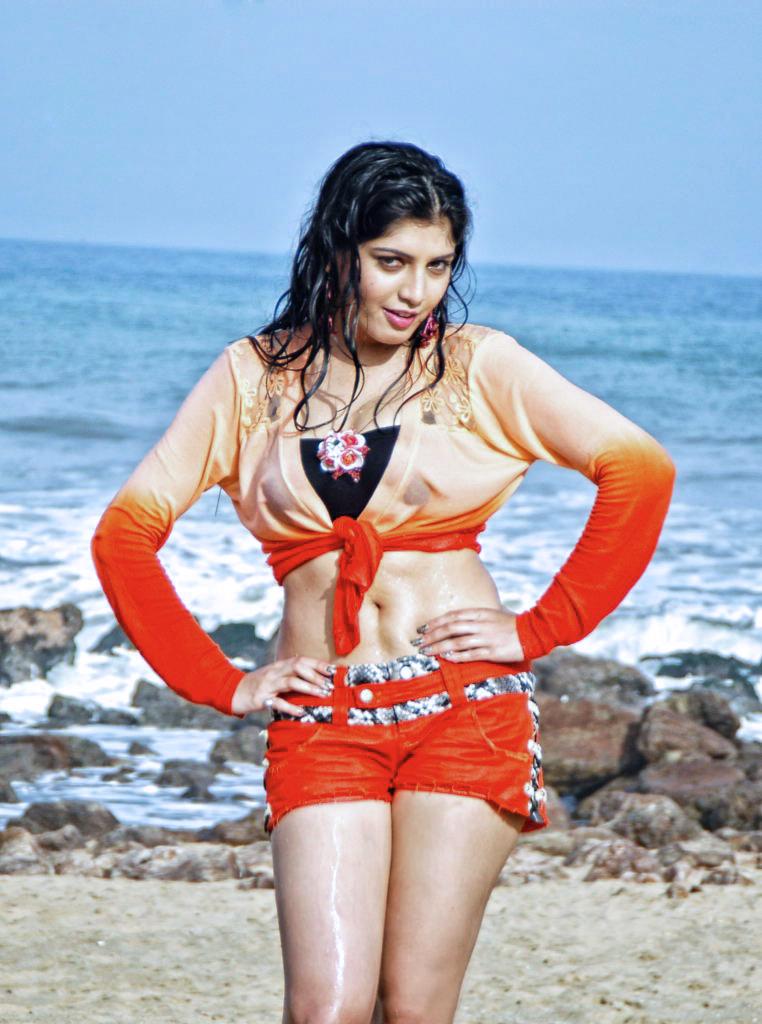 Priyadarshini in white Crop top and Yellow Mini Skirt