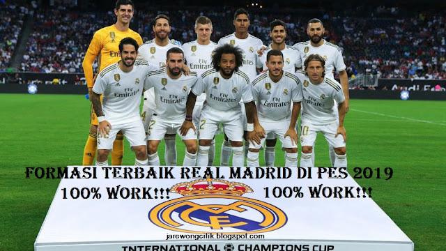 Formasi Terbaik Real Madrid Di PES 2019