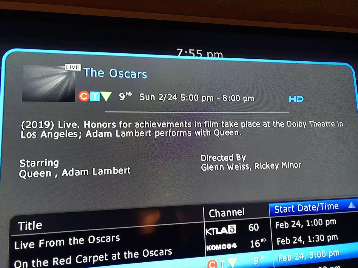 Queen + Adam Lambert: Top Billing On CTV (Canada) Oscars
