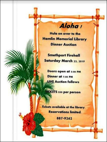 3-23 Dinner Auction, Hamlin Library, Smethport