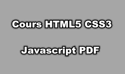 Cours HTML5 CSS3 Javascript PDF