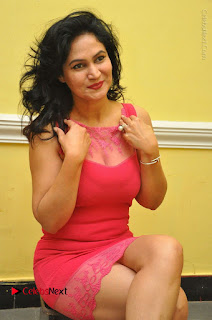 Telugu Actress Vijaya Murthy Stills in Red Short Dress at Www.Meena Bazaar Movie Opening  0072.JPG