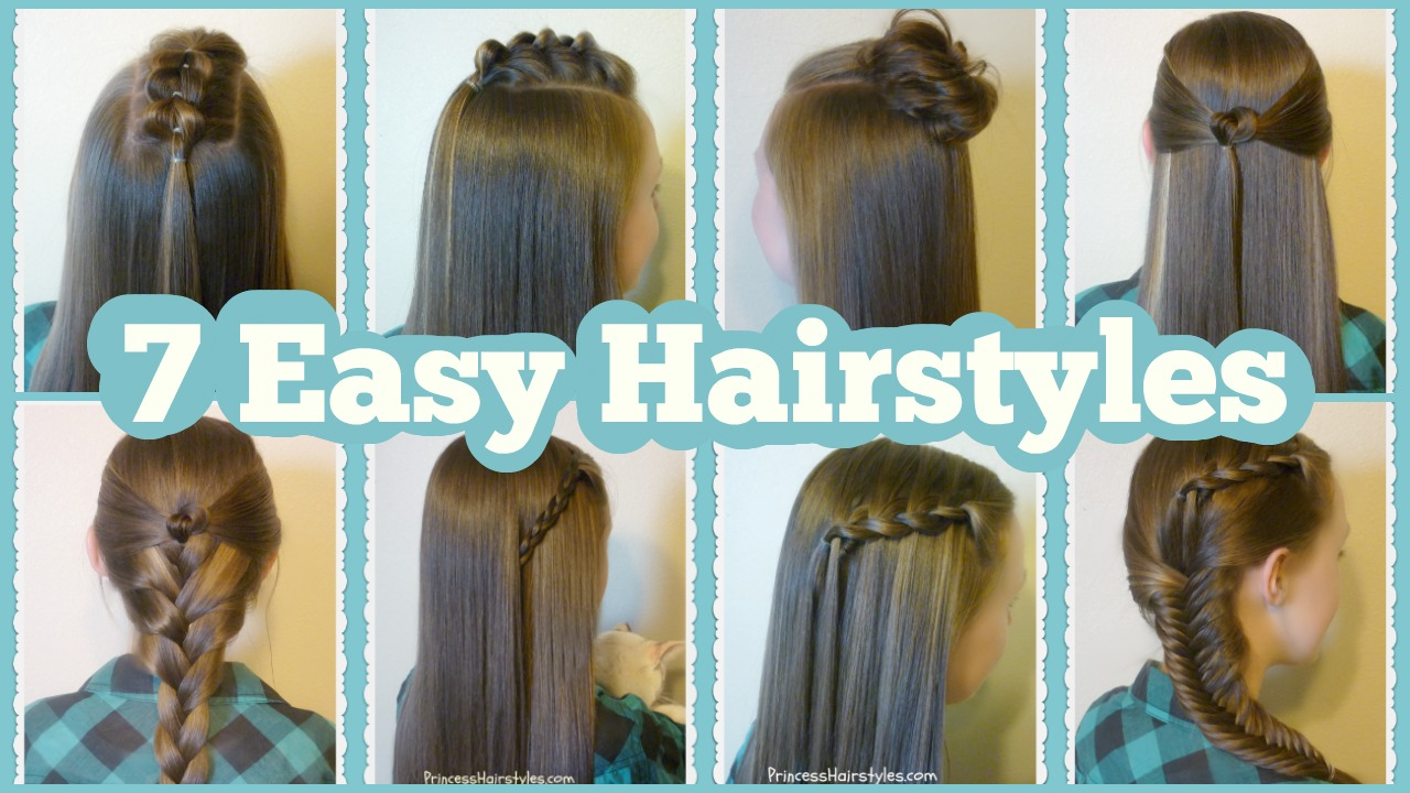 Easy Styles For Long Hair: 7 Quick & Easy Hairstyles For School