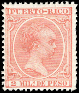Puerto Rico 1894 Alfonso XIII of Spain