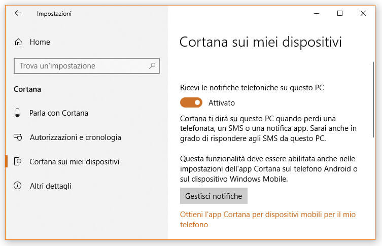 Ricevere notifiche sul tuo PC solo da dispositivi Android